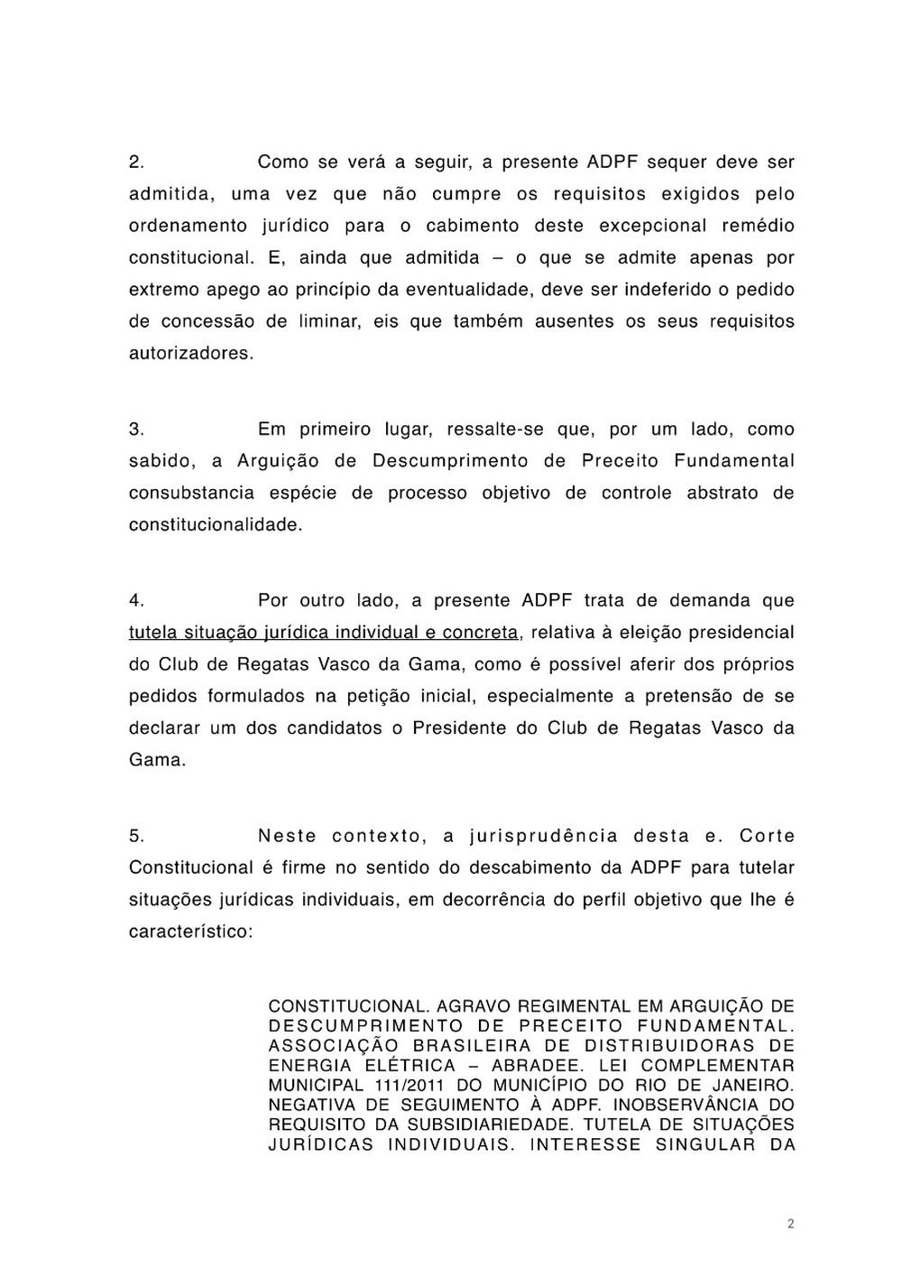 Petição Jorge Salgado STF Vasco página 2