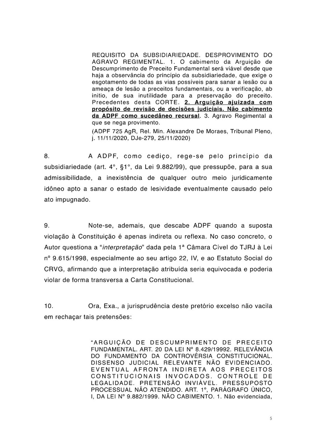 Petição Jorge Salgado STF Vasco página 5